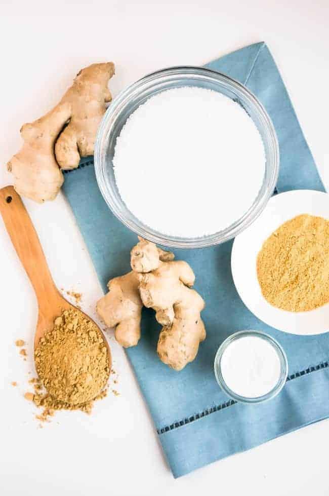 Ginger detox bath