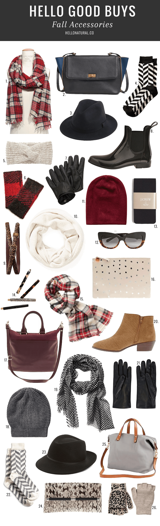 Must-Have Fall Accessories for 2014 | HelloGlow.co
