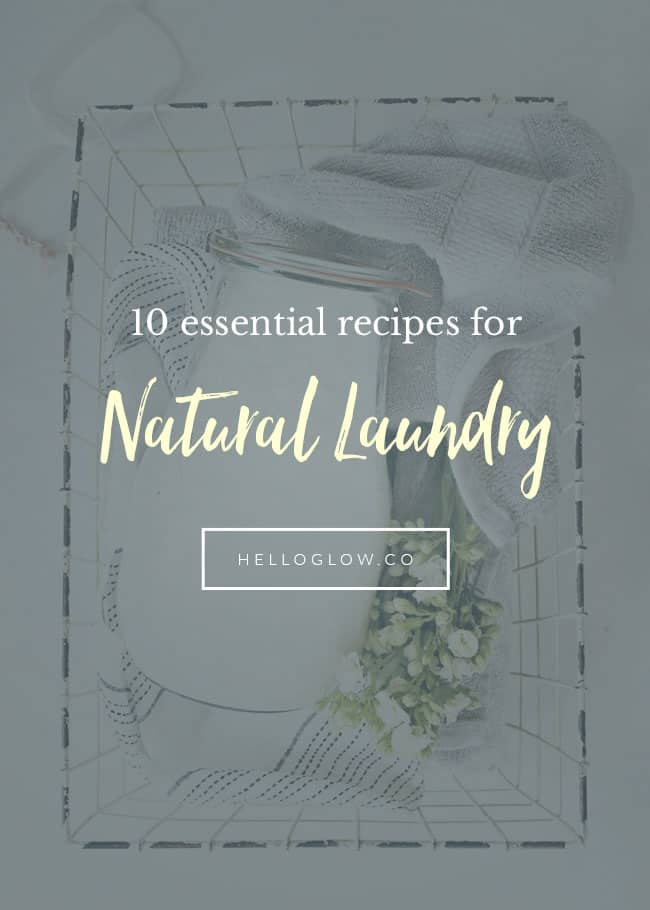 10 Natural Laundry Homemade Recipes