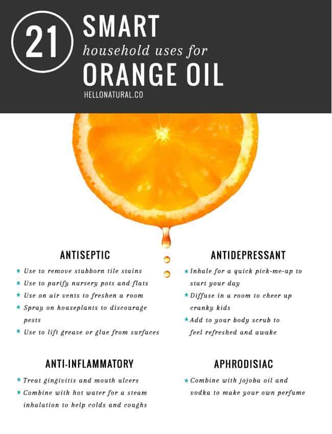 21 smarta användningsområden för orange olja |  HelloGlow.co