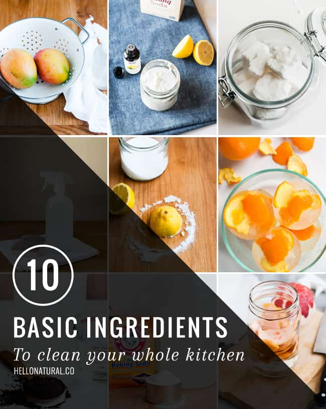 10 Ingredients to Clean Your Whole Kitchen | HelloNatural.co