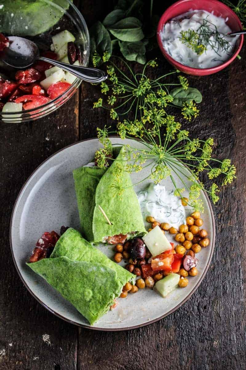 Chickpea Wrap | Easy Lunch Wrap Recipes | HelloGlow.co
