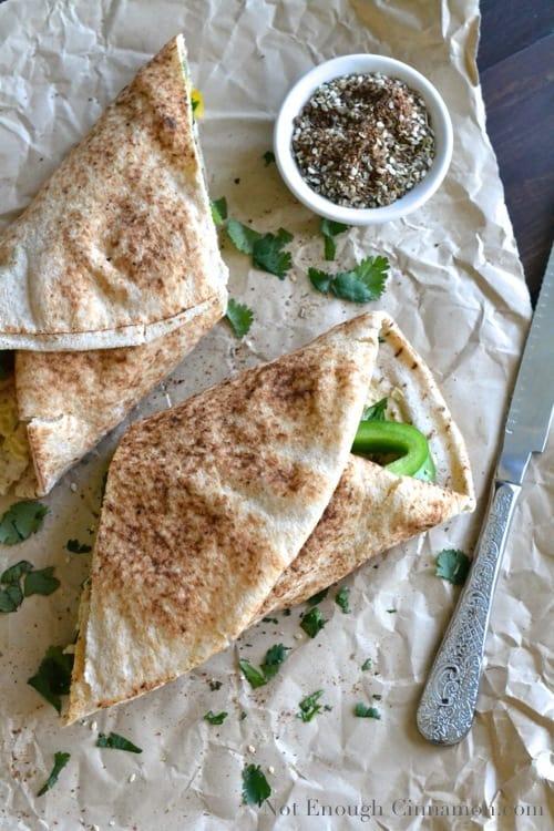 Grilled Chicken + Hummus Wrap