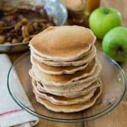 Apple Butter Pecan Pancakes + Make-Ahead Whole Grain Pancake Mix