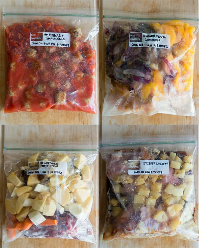 12 Easy Slow Cooker Freezer Bag Meals | HelloNatural.co