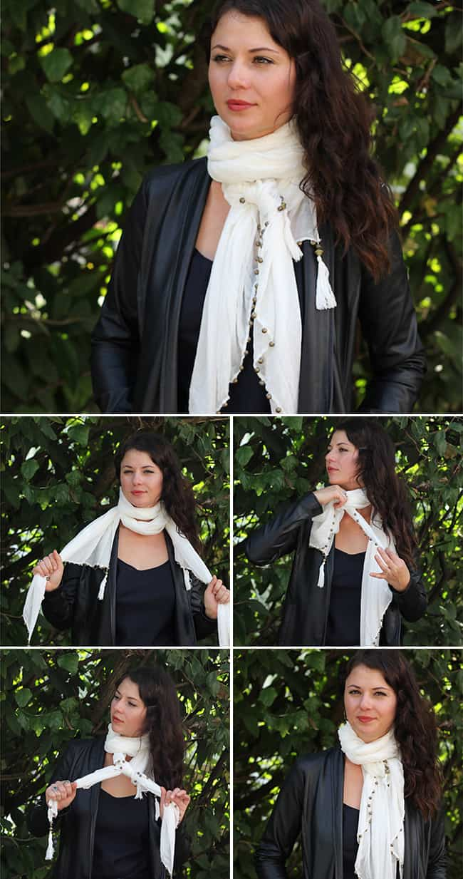 Double Loop | 19 stylish ways to tie a scarf | HelloGlow.co