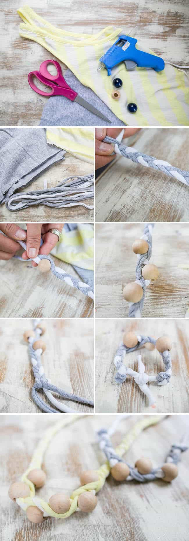 DIY T-shirt Bracelet | Hello Glow