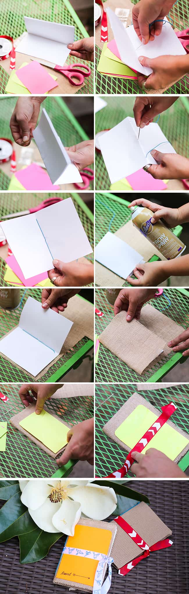 Make your own purse travel journal