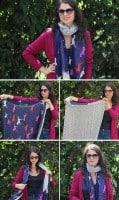 Double Sided Scarf | 13 Ways to Tie a Scarf | HelloGlow.co