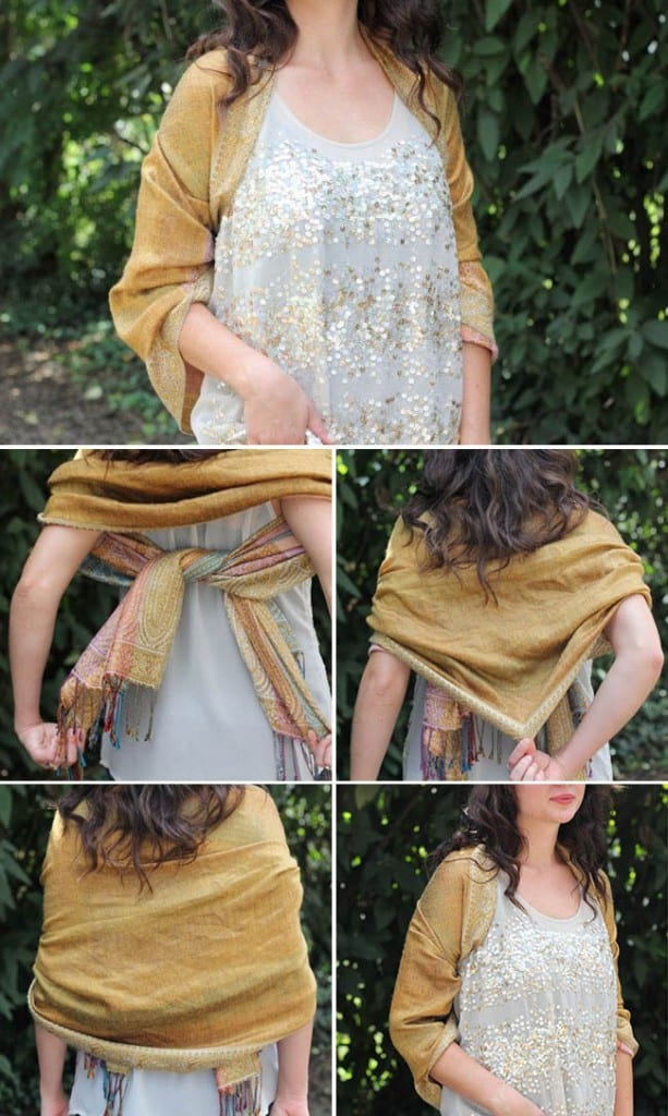 Knotted Shawl | 19 stylish ways to tie a scarf | HelloGlow.co