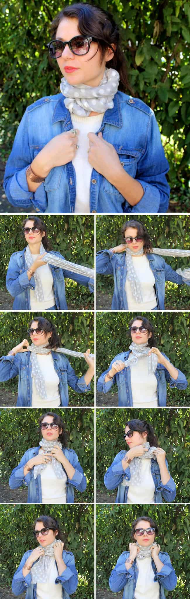 13 super stylish ways to tie a scarf different ways of tying a scarf cozy neck wrap 13 stylish ways to tie a scarf helloglow ccuart Choice Image