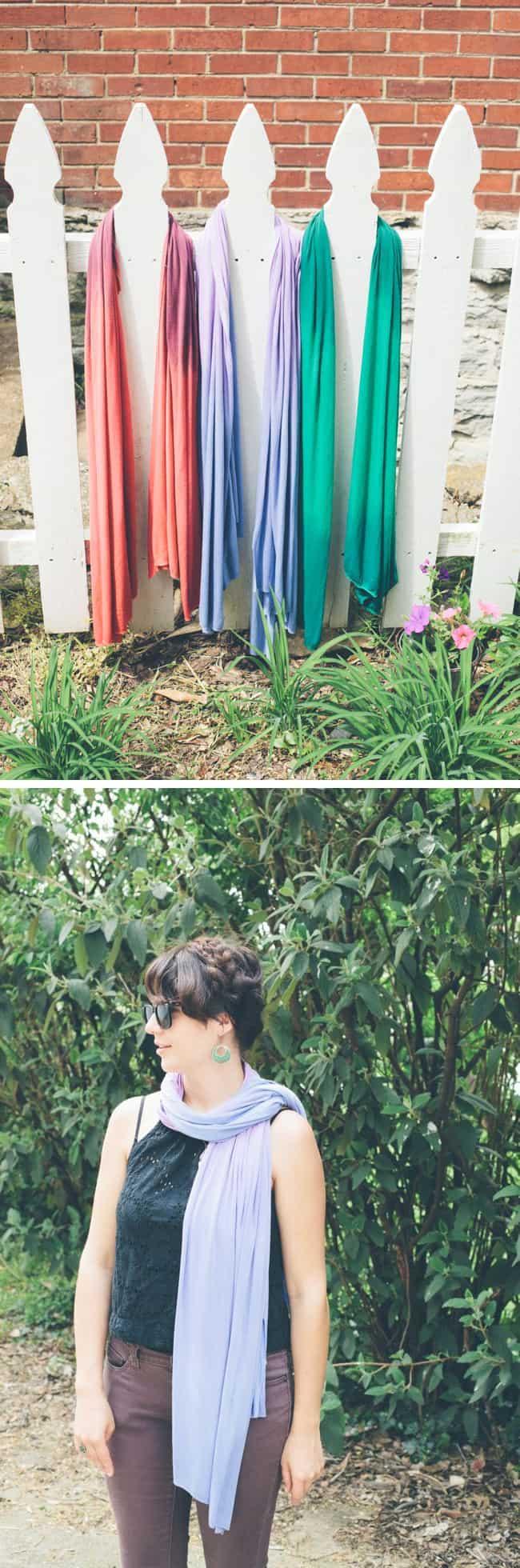 DIY No Sew Jersey Scarves | Hello Glow