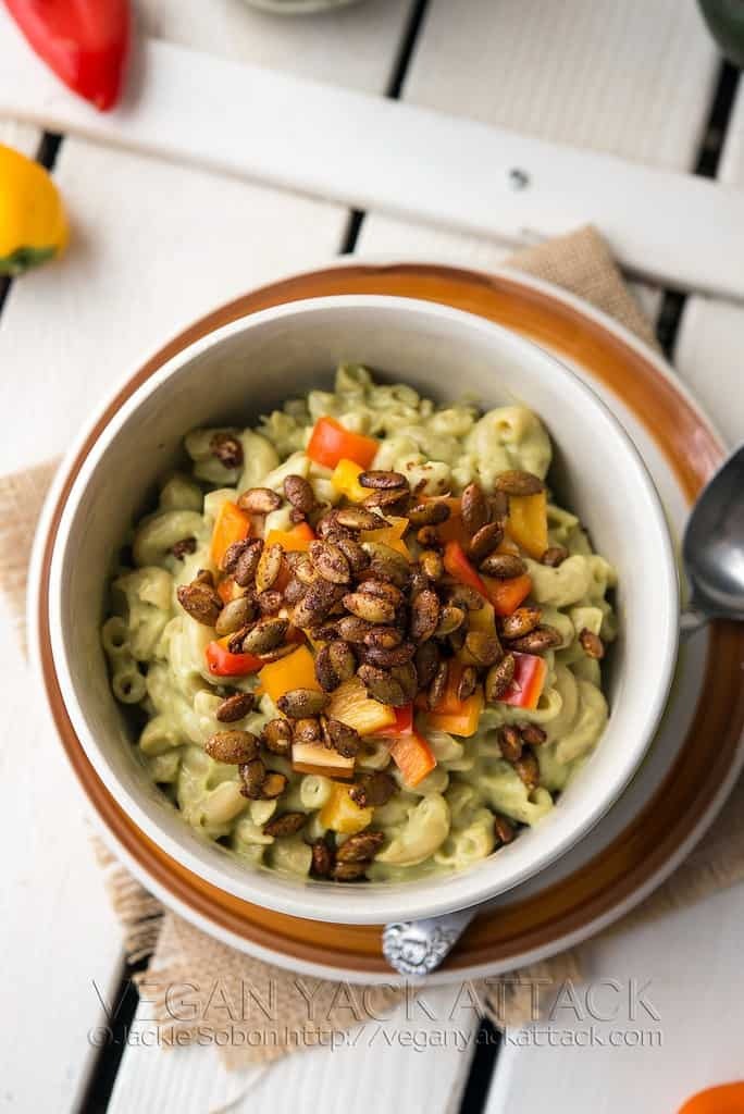 Avocado Mac with Pepita Bacon