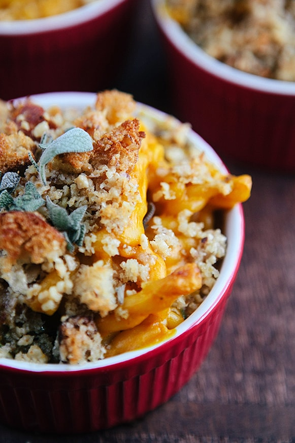 Baked Pumpkin Kale Mac & Cheese