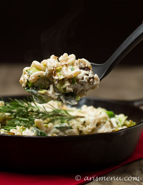 Brussels Sprouts + Fontina Mac & Cheese