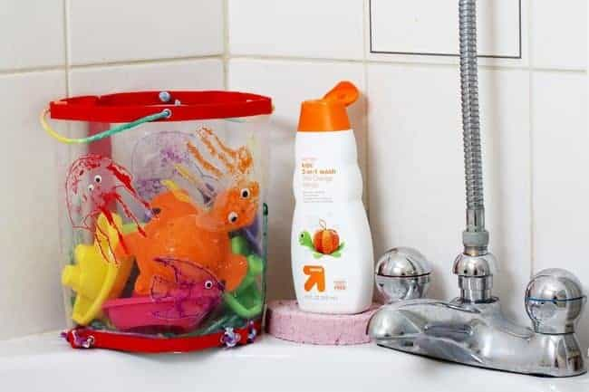 Fun + Functional Kid-Friendly DIY Bath Organizer