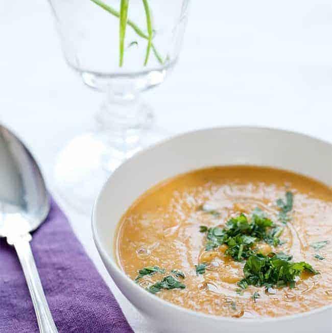 Creamy Vegan Butternut Squash Soup | Hello Glow