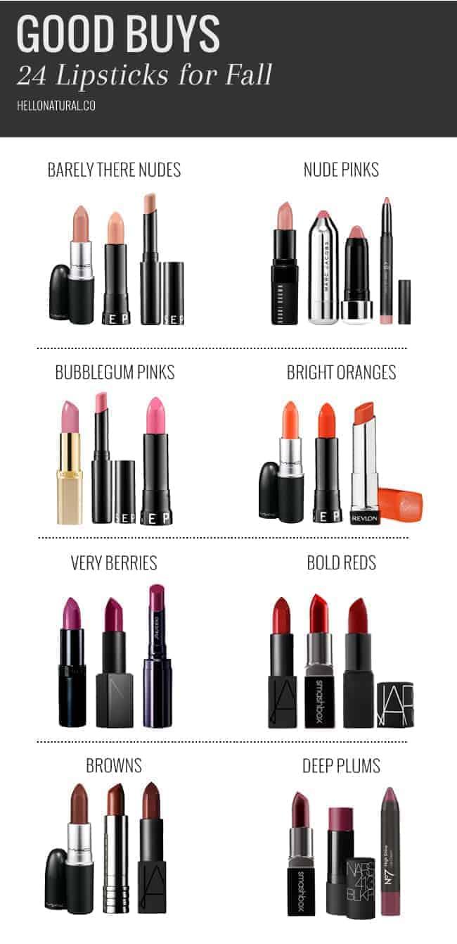 24 Lipsticks for Fall | HelloNatural.co