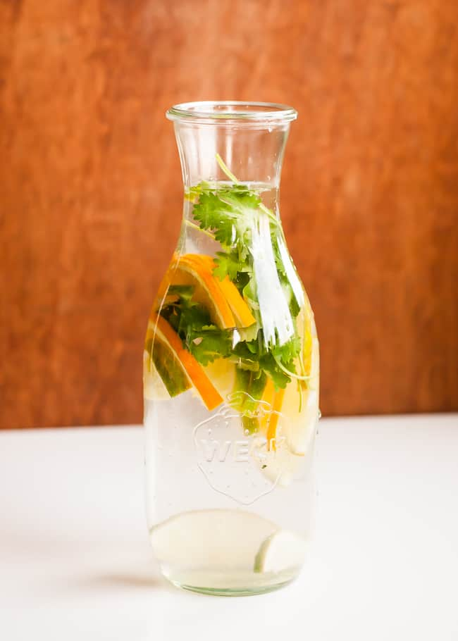 Cilantro Citrus   21 Infused Waters for Fall   HelloGlow.co