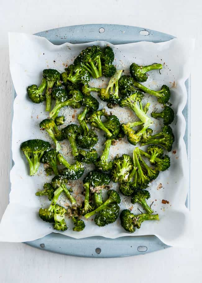 Lemon Parmesan Herb Broccoli | Hello Glow