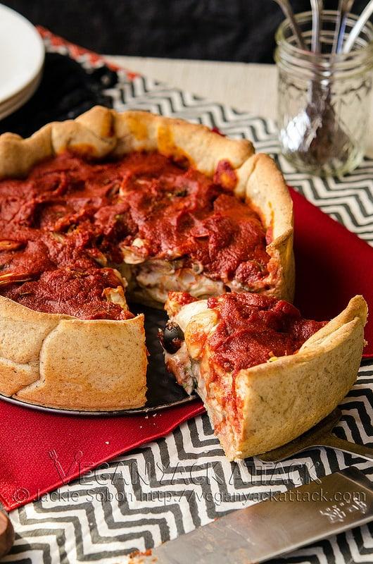 Mozzarella Mac Deep Dish Pizza