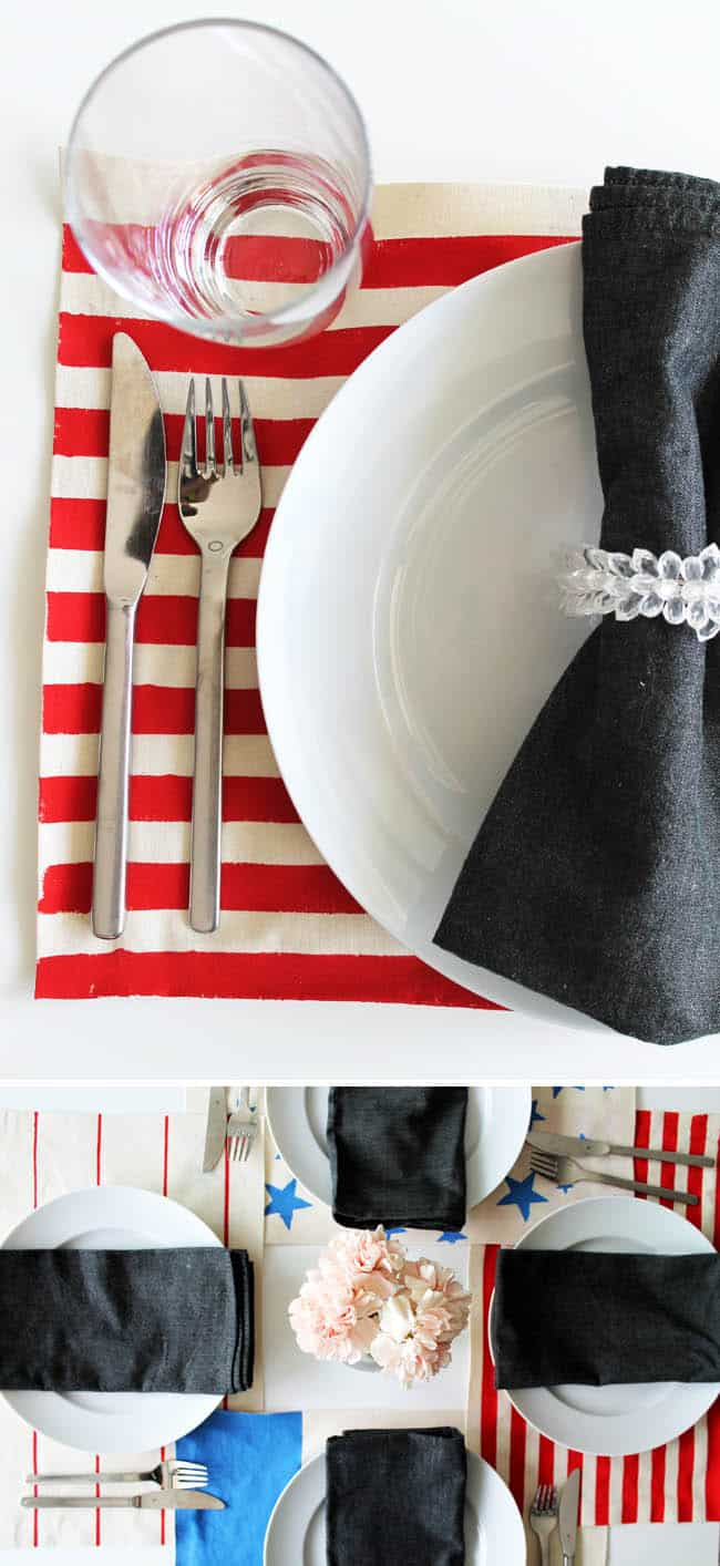 DIY 4th of July Placemats | Hello Glow