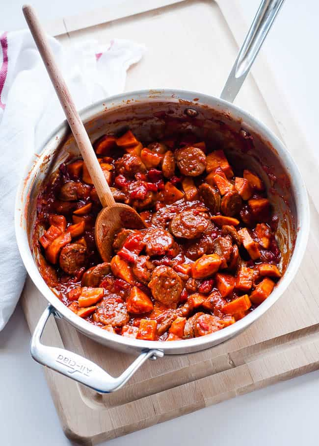 One Pot Sausage Paprikash | Hello Glow