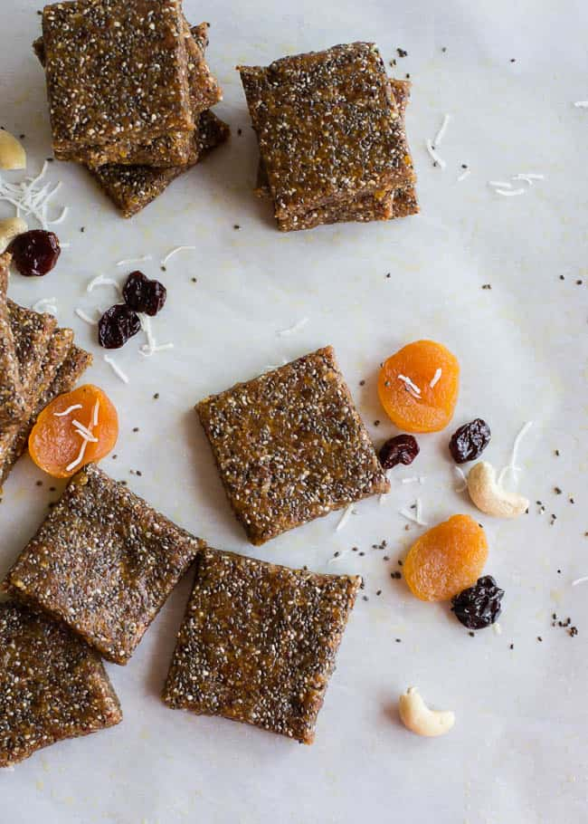 Apricot Cherry Energy Bars | 25 Healthy Energy Bar Recipes