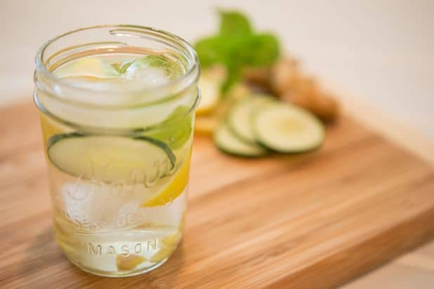 Citrus-Mint Bloating Relief Water