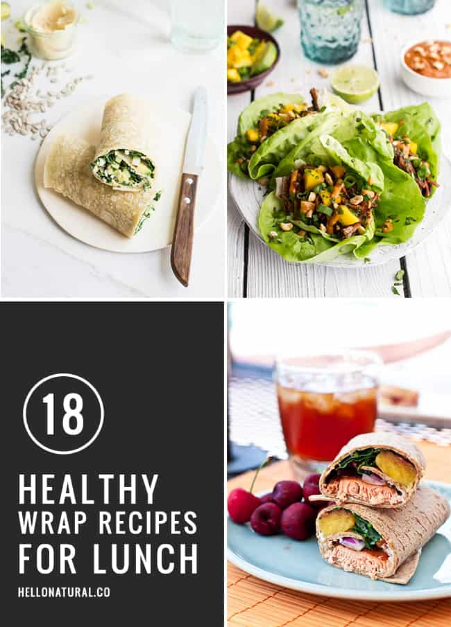 18 Healthy Wrap Recipes Perfect for Lunch   HelloNatural.co