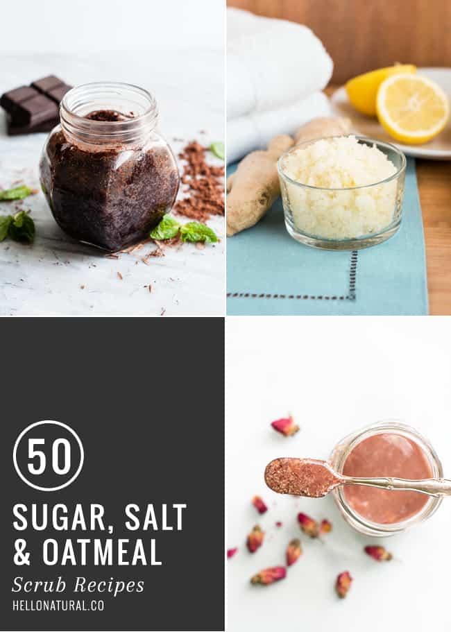 50 Sugar, Salt + Oatmeal Scrubs | HelloGlow.co