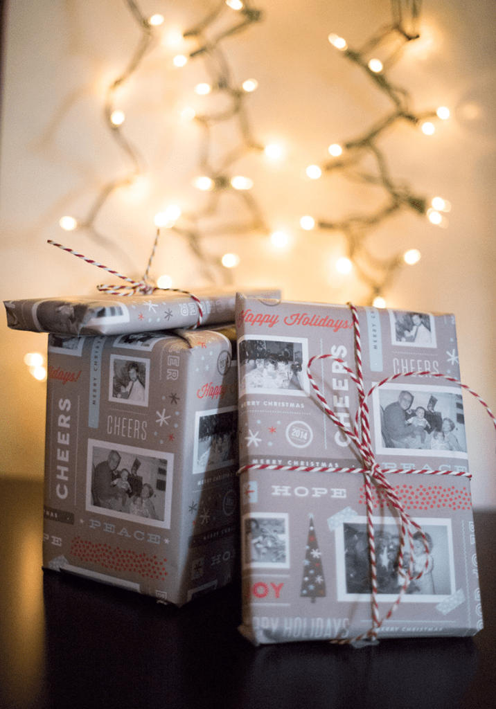 How to add photos to your wrapping paper