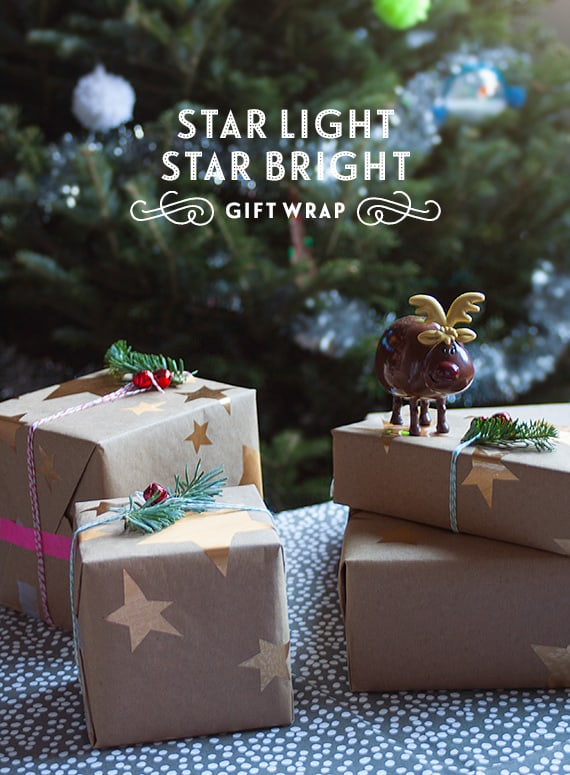 Starry gift wrap