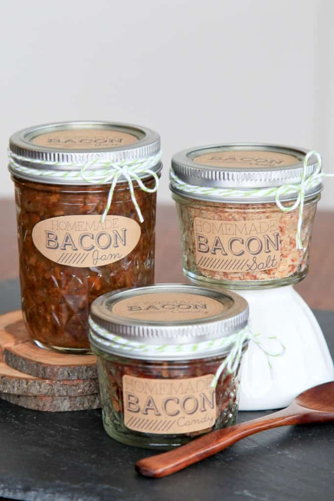 Bacon Jam, Bacon Salt, and Bacon Candy