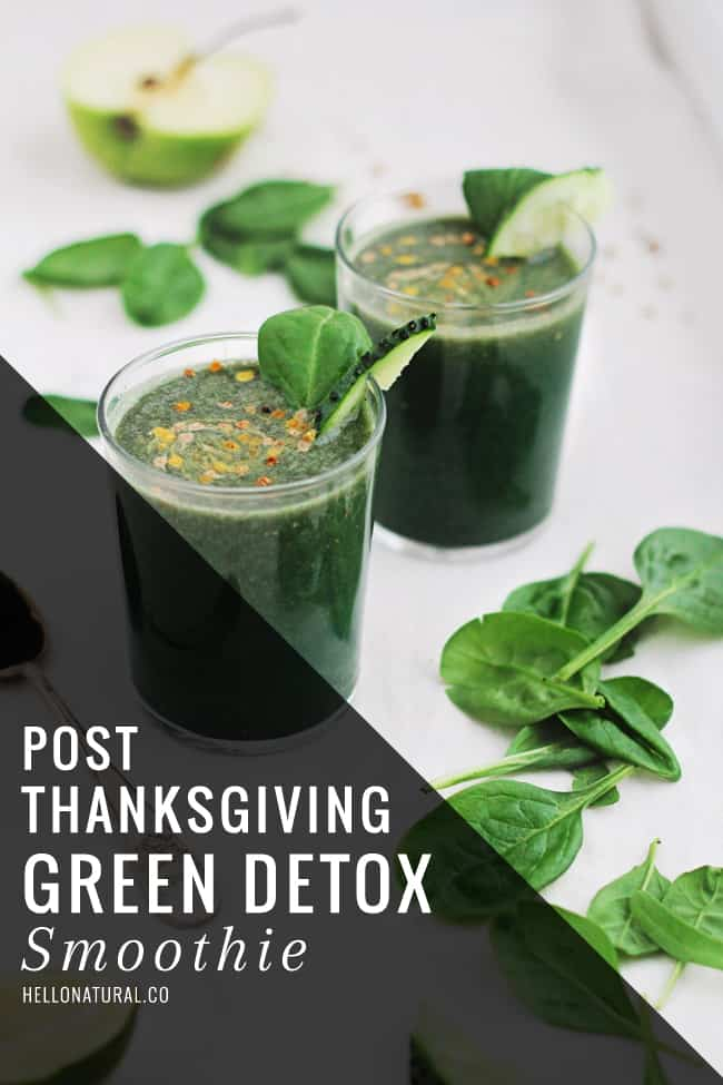 Post-Thanksgiving Green Detox Smoothie   HelloGlow.co
