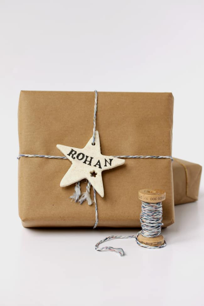 DIY: Cornstarch clay gift wrap | helloglow.co