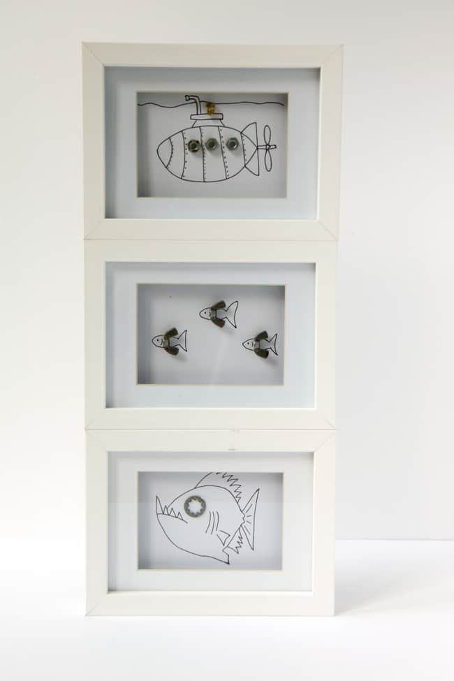 Framed kid artwork | helloglow.co
