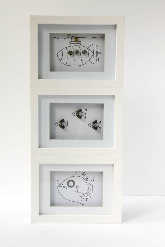 Framed kid artwork | helloglow.co