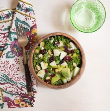 Leftover Turkey Kale Salad   HelloGlow.co