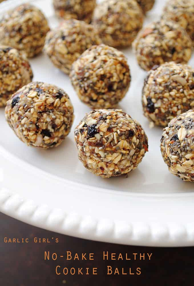 No-Bake Healthy Cookie Balls
