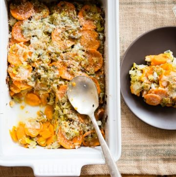 Healthy Sweet Potato Gratin | HelloGlow.co