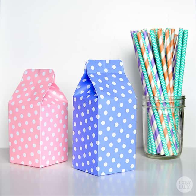 Mini milk cartons
