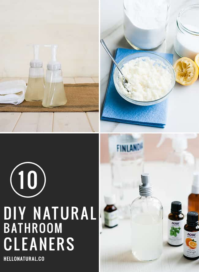 10 DIY Natural Bathroom Cleaners | Hello Glow
