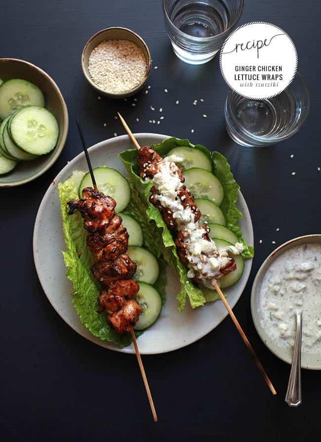 Ginger Tzatziki Chicken Wrap | HelloGlow.co