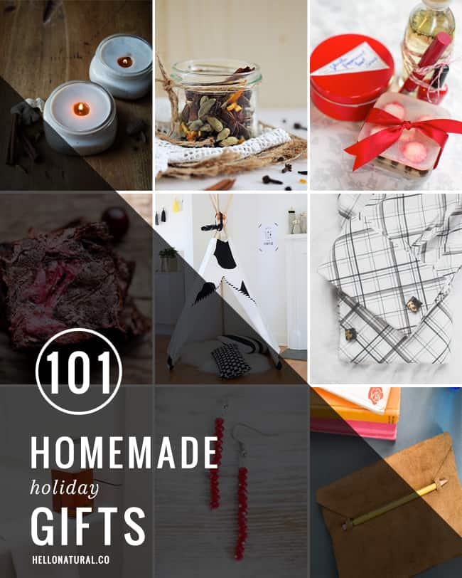 101 Homemade Holiday Gifts | HelloNatural.co