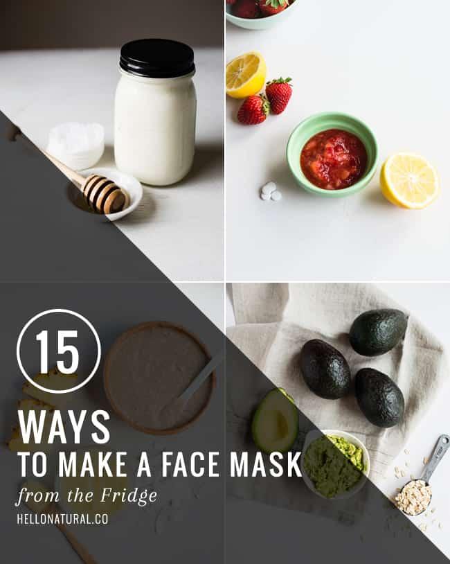 15 Homemade Face Masks from the Fridge   HelloGlow.co