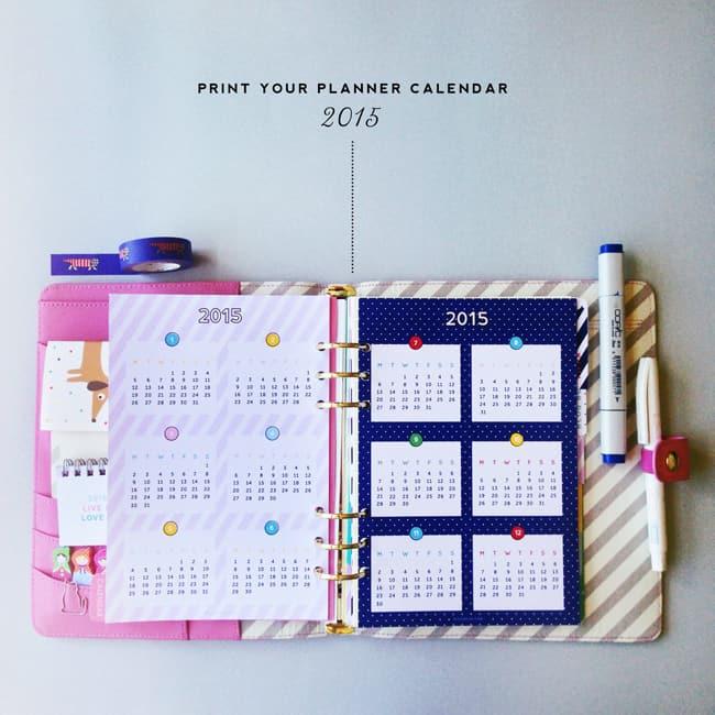Planner calendar 2015
