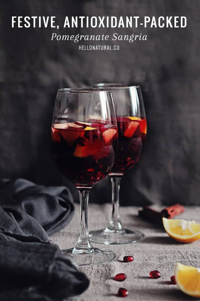 Pomegranate Sangria Recipe | HelloGlow.co