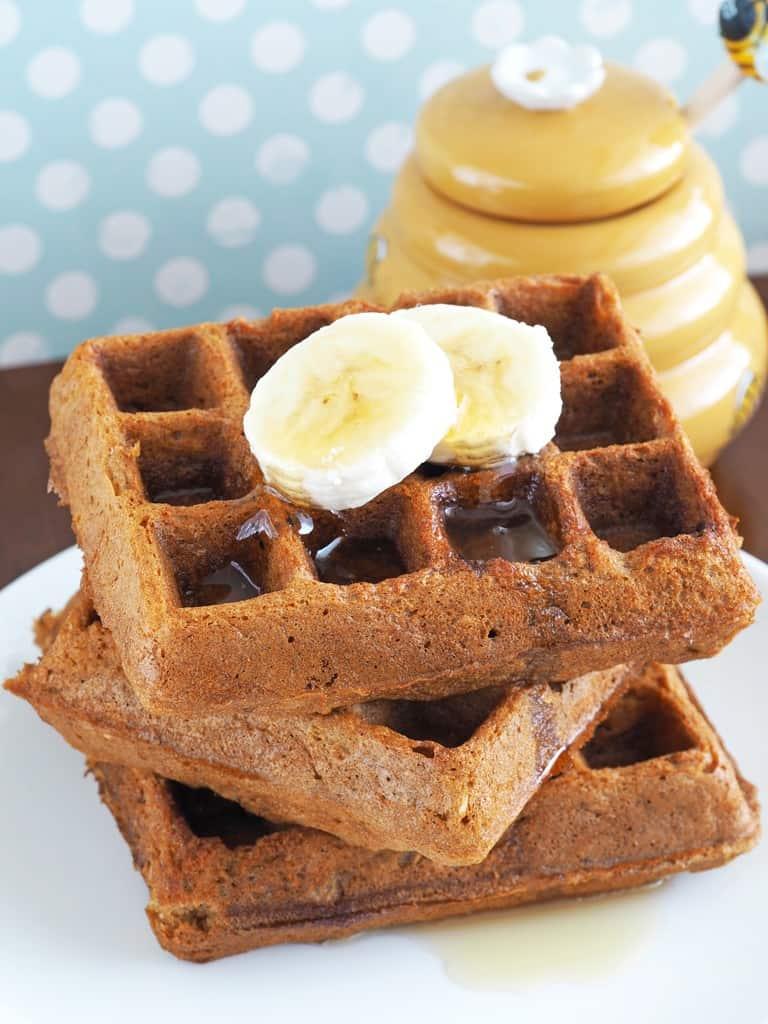 Gluten-Free Honey Oatmeal Waffles