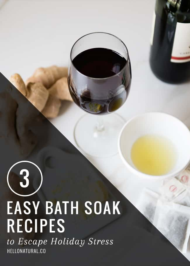 3 Easy DIY Bath Recipes with Red WIne, Green Tea and Citrus | HelloGlow.co